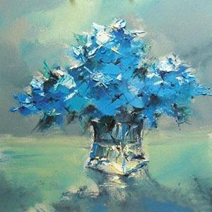油画花卉作品临摹一幅