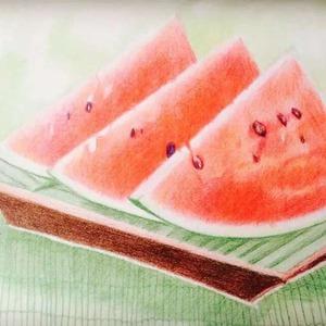 葡萄的画法彩铅步骤